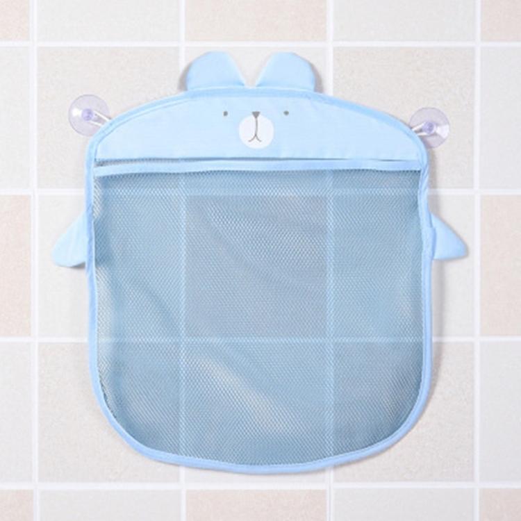 1pc Kids Baby sky blue bathroom accessory bath toy holder storage mesh bag