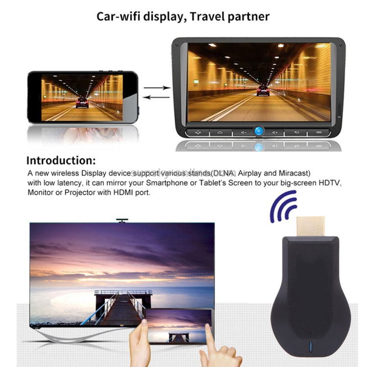SUNSKY - AnyCast M9 Plus Wireless WiFi Display Dongle Receiver