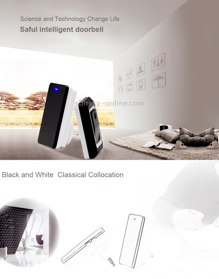Sunsky Saful K108 Waterproof Wireless Smart Doorbell