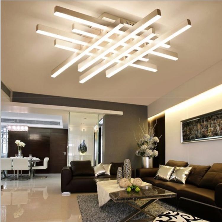 Sunsky Creative Rectangular Bedroom Warm Living Room Simple Modern Led Ceiling Light 4 4 Heads Size 102 X 80 X 12cm White Light