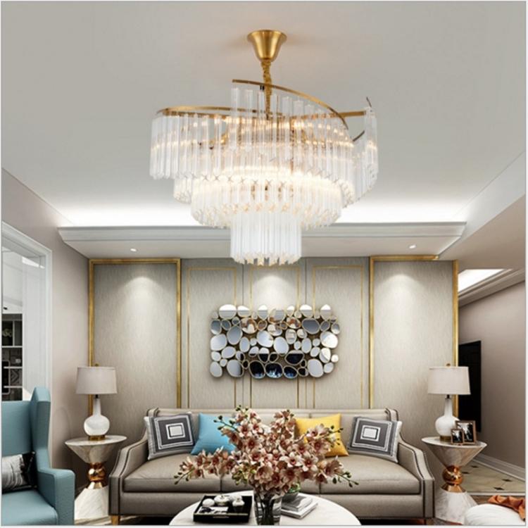 Sunsky Modern Chandelier Modern Minimalist Dining Room Lamp Creative Personality Living Room Lighting Atmosphere Home Villa Crystal Chandelier 8 Heads 600 X 420mm Warm White