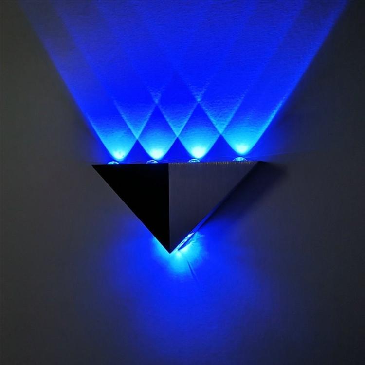 Sunsky Ywxlight 5w Triangle Creative Led Wall Lamp Corridor Aisle Lights Bar Bedroom Living Room Wall Decoration Light Blue Light
