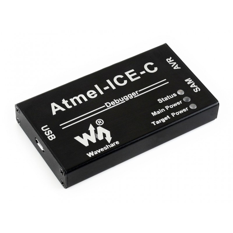 Waveshare Atmel-ICE Basic Kit Powerful Development Tool for Debugging and Programming Atmel SAM and AVR Microcontrollers Comes with Additional Adapter and Cables