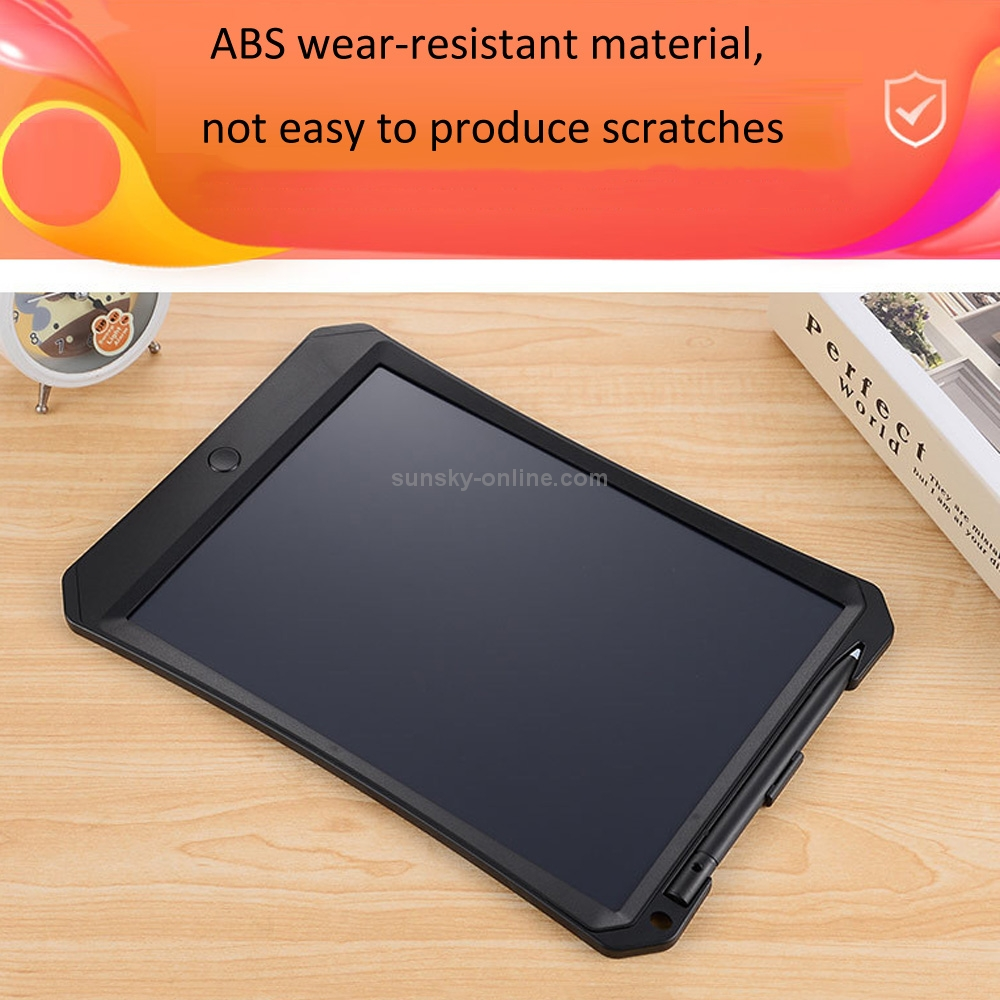 Electronics 11 inch LCD Monochrome Screen Rough Handwriting Writing Tablet High Brightness Handwriting Drawing Sketching Graffiti Scribble Doodle Board for Home Office Writing Drawing Black