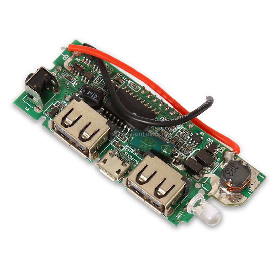 SUNSKY - Dual USB Mobile Power Bank DIY Battery Charger PCB