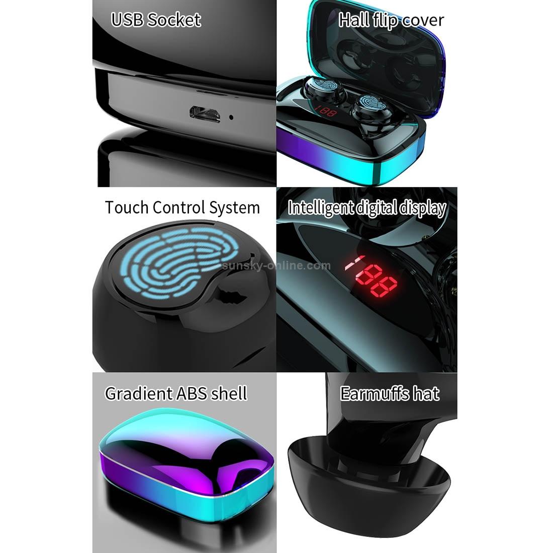 SUNSKY - HAMTOD X29 TWS Bluetooth 5 0 Fingerprint Touch