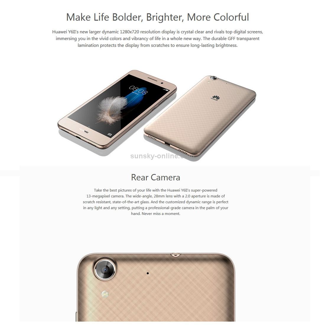 SUNSKY - Huawei Y6 II, 2GB+16GB, China Version, Dual Camera