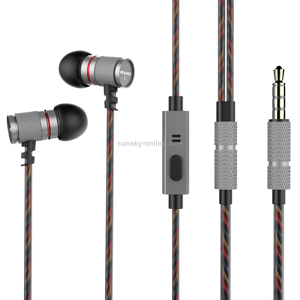 SUNSKY - awei ES-660i TPE Weave In-ear Wire Control Earphone