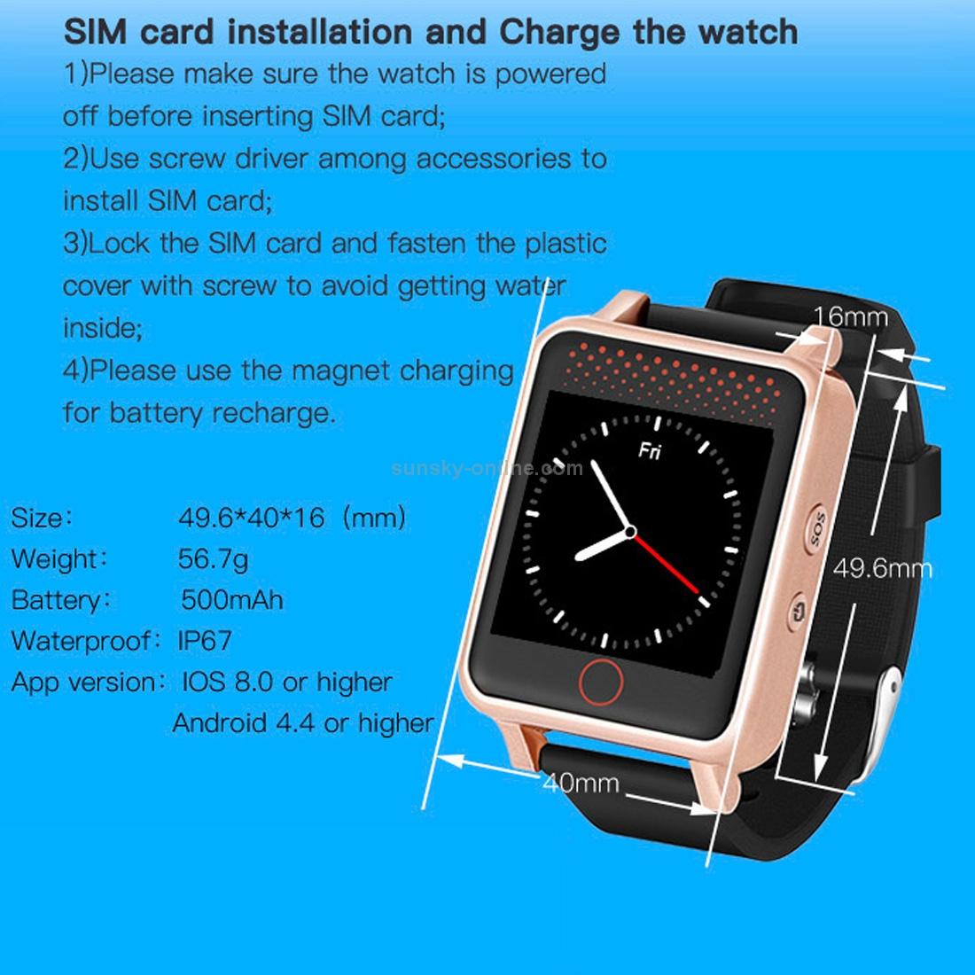 SUNSKY - V36 GSM GPS Tracking Communicator Tracker Watch