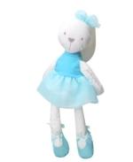 9383a5453 الأرنب أفخم لعب لينة محشوة الحيوان أرنب دمية لعبة للأطفال الرضع النوم ماتي  الطفل استرضاء لعبة (أزرق)
