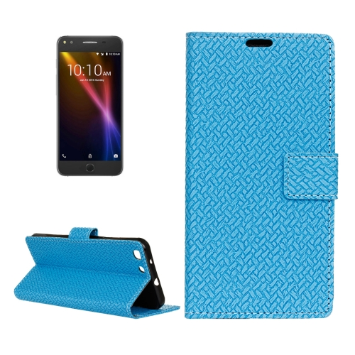 Buy For Alcatel Onetouch X1 7053D Weaving Texture Horizontal Flip PU Leather Case with Magnetic Buckle & Holder & Card Slots & Wallet & Photo Frame, Blue for $3.19 in SUNSKY store