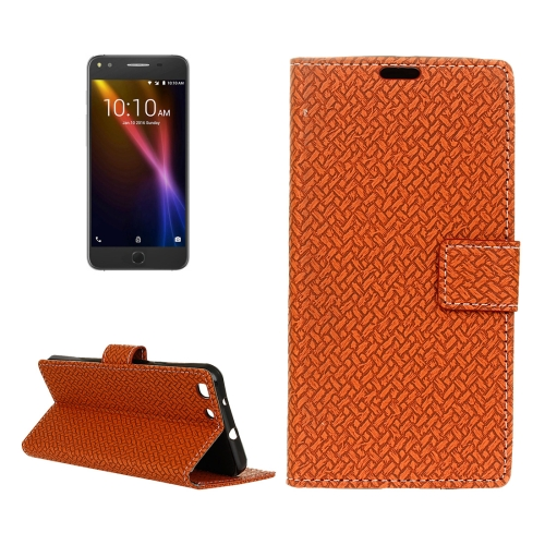 Buy For Alcatel Onetouch X1 7053D Weaving Texture Horizontal Flip PU Leather Case with Magnetic Buckle & Holder & Card Slots & Wallet & Photo Frame, Brown for $3.19 in SUNSKY store