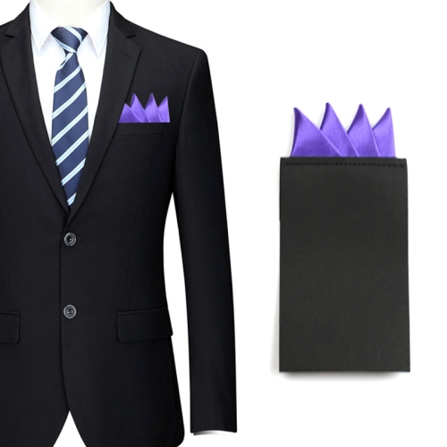 Men Wedding Banquet Formal Western-style Clothes Business Pocket Square, Purple
