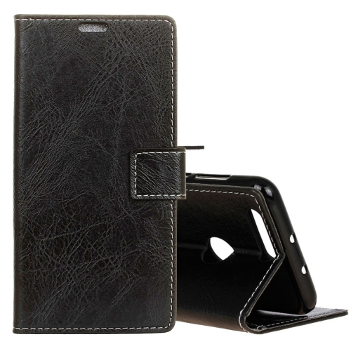 Buy For Asus ZenFone Max Plus, M1 ZB570TL Retro Crazy Horse Texture Horizontal Flip Leather Case with Holder & Card Slots & Wallet & Photo Frame, Black for $3.21 in SUNSKY store