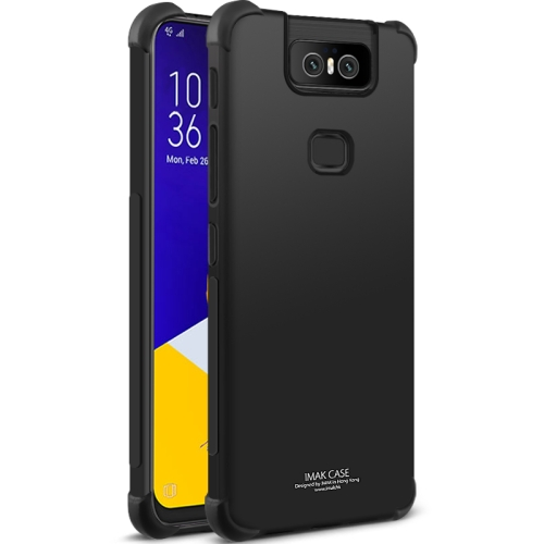IMAK All-inclusive Shockproof Airbag TPU Case for Asus Zenfone 6 ZS630KL ,Containing Explosion-proof Membrane (Black)