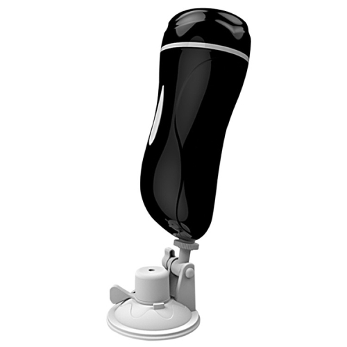 mannuo Handsfree 150 Degree Rotation Double Channel Male Masturbation Cup Aircraft Cup, Size: 26*8cm(Black)