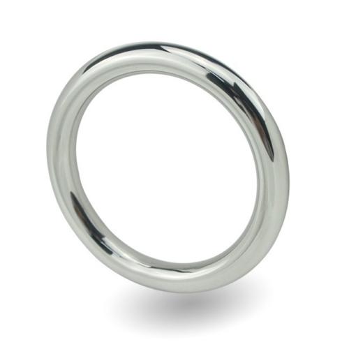 Male Delay Ejaculation Round Stainless Steel Penis Ring, Inner Diameter: 50mm