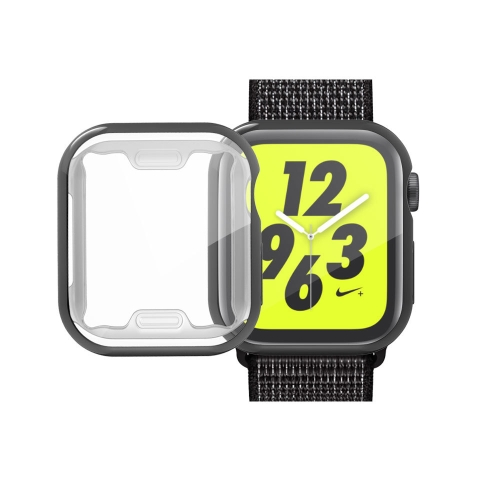 Full Coverage Plating TPU Case for Apple Watch Series 5 & 4 44mm(Black)