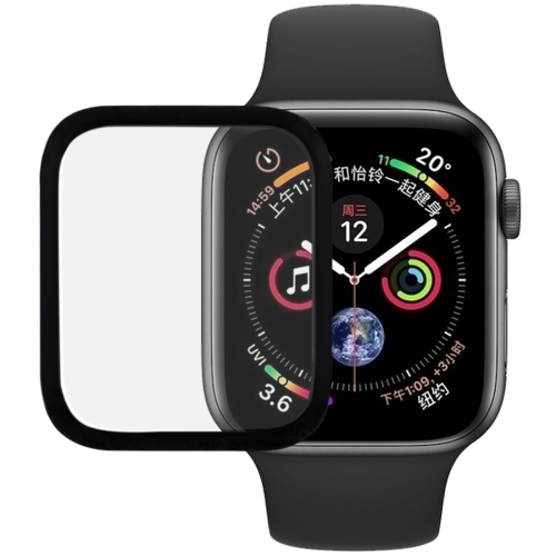 9H 3D Full Screen Tempered Glass Film for Apple Watch Series 4 44mm (Black)