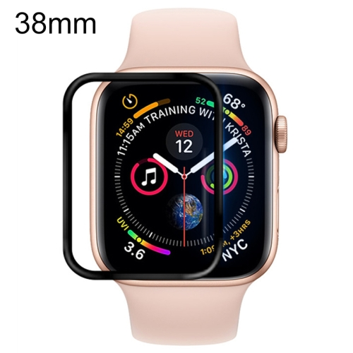 For Apple Watch 38mm Soft PET Film Full Cover Screen Protector(Black) фото