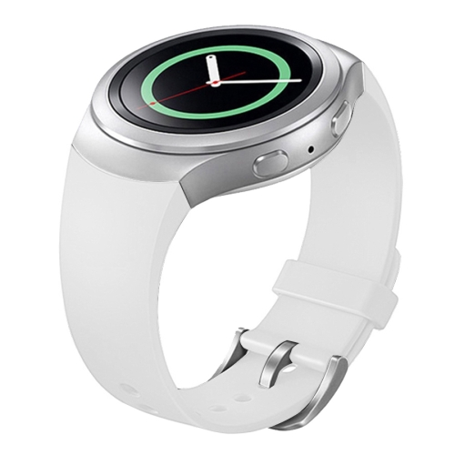 For Samsung Gear S2 Sport / Gear S2 Watch Solid Color Silicone Watchband(White) фото