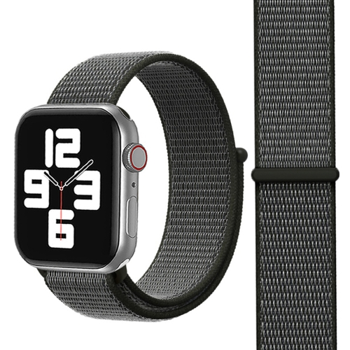 For Apple Watch Series 3 & 2 & 1 38mm Simple Fashion Nylon Watch Strap with Magic Stick(Grey)