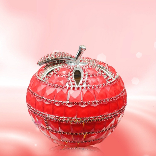 CX Diamond-Studded Apple Car Perfume Security And Peace Tricolor Auto Supplies Interior Swing