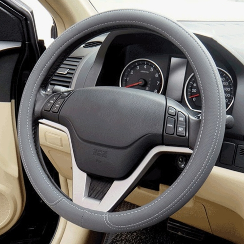 Buy Car Microfiber Leather Steering Wheel Cover (Colour: Grey, Adaptation Steering wheel diameter: 38cm) for $3.68 in SUNSKY store