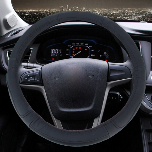 Buy Leather Steering Wheel Cover To Cover Car Skid Car (Colour: Black, Adaptation Steering wheel diameter: 38cm) for $5.42 in SUNSKY store