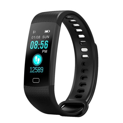 Y5 0.96 inch Color Screen Bluetooth 4.0 Smart Bracelet, IP67 Waterproof, Support Sports Mode / Heart Rate Monitor / Sleep Monitor / Information Reminder, Compatible with both Android and iOS System(Black) goral y5 smart bracelet 0 96 inch tft color screen