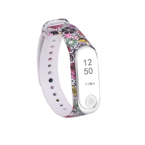 Silicone Painting Wrist Strap Watch Band for Xiaomi Mi Band 3 & 4 фото