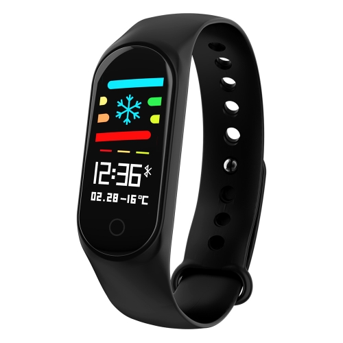 MS3 0.96 inches IPS Color Screen Smart Bracelet IP67 Waterproof,Support Call Reminder /Heart Rate Monitoring /Blood Pressure Monitoring /Blood Oxygen Monitor /Sleep Monitoring /Weather Forecast(Black)