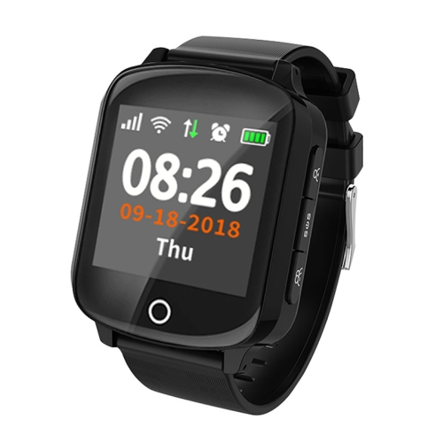 D200 1.54 inch IPS Color Screen Smartwatch for the Elder IP68 Waterproof, Support GPS+LBS+WiFi Tracker / One-key First-aid / Heart Rate Blood Pressure Monitoring / Fall-down Alarm / Two-way Conversation(Black) фото