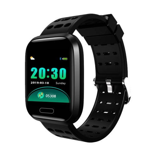 A8 1.3 inches TFT Screen Smart Bracelet IP67 Waterproof, Silicone Watchband, Support Step Counting / Call Reminder / Healthy Monitoring / Sleep Monitoring / Remote Camera (Black)