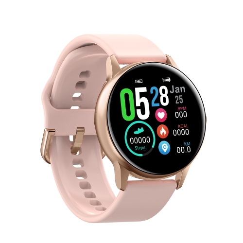 DT88 1.22 inch Full Circle Full Touch Silicone Strap Smart Sport Watch IP68 Waterproof, Support Real-time Heart Rate Monitoring / Sleep Monitoring / Bluetooth / Alarm Clock(Pink)