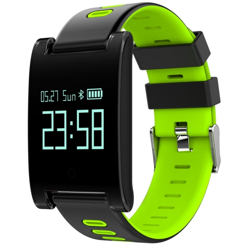 Buy DOMINO DM68 Plus 0.95 inch OLED Screen Display Bluetooth Smart Bracelet, IP67 Waterproof, Support Pedometer / Heart Rate Monitor / Blood Pressure Monitor / Sleep Monitor, Compatible with Android and iOS Phones, Green for $26.55 in SUNSKY store