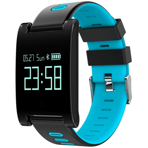 Buy DOMINO DM68 Plus 0.95 inch OLED Screen Display Bluetooth Smart Bracelet, IP67 Waterproof, Support Pedometer / Heart Rate Monitor / Blood Pressure Monitor / Sleep Monitor, Compatible with Android and iOS Phones, Blue for $26.55 in SUNSKY store