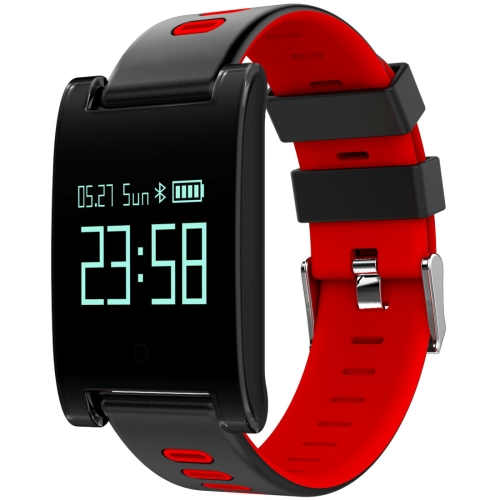Buy DOMINO DM68 Plus 0.95 inch OLED Screen Display Bluetooth Smart Bracelet, IP67 Waterproof, Support Pedometer / Heart Rate Monitor / Blood Pressure Monitor / Sleep Monitor, Compatible with Android and iOS Phones, Red for $26.55 in SUNSKY store