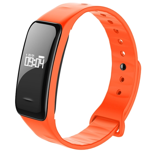 Buy C1 0.49 inch OLED Touch Screen Display Bluetooth Intelligence Heart Rate Smart Bracelet, IP67 Waterproof, Support Pedometer / Real-time Heart Rate Monitor / Blood Oxygen Monitor / Blood Pressure Monitor / Sleep Monitor / Notification Reminder / Call Reminder, Compatible with Android and iOS Phones, Orange for $19.80 in SUNSKY store
