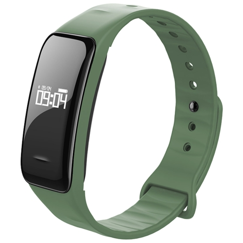 Buy C1 0.49 inch OLED Touch Screen Display Bluetooth Intelligence Heart Rate Smart Bracelet, IP67 Waterproof, Support Pedometer / Real-time Heart Rate Monitor / Blood Oxygen Monitor / Blood Pressure Monitor / Sleep Monitor / Notification Reminder / Call Reminder, Compatible with Android and iOS Phones, Green for $19.80 in SUNSKY store
