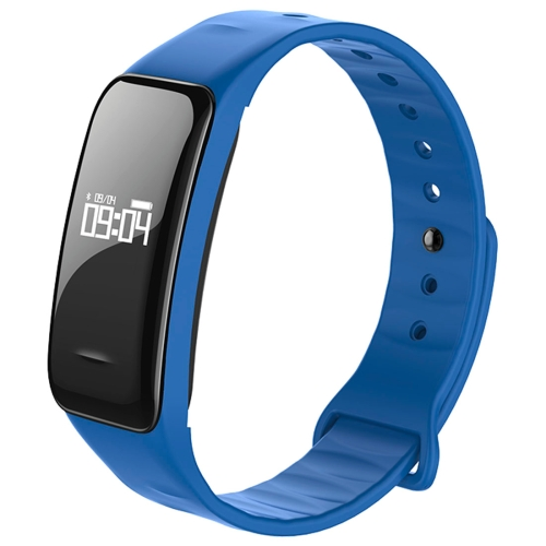 Buy C1 0.49 inch OLED Touch Screen Display Bluetooth Intelligence Heart Rate Smart Bracelet, IP67 Waterproof, Support Pedometer / Real-time Heart Rate Monitor / Blood Oxygen Monitor / Blood Pressure Monitor / Sleep Monitor / Notification Reminder / Call Reminder, Compatible with Android and iOS Phones, Blue for $19.96 in SUNSKY store