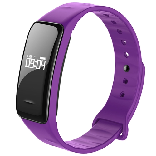 Buy C1 0.49 inch OLED Touch Screen Display Bluetooth Intelligence Heart Rate Smart Bracelet, IP67 Waterproof, Support Pedometer / Real-time Heart Rate Monitor / Blood Oxygen Monitor / Blood Pressure Monitor / Sleep Monitor / Notification Reminder / Call Reminder, Compatible with Android and iOS Phones, Purple for $19.96 in SUNSKY store