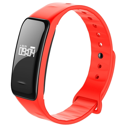 Buy C1 0.49 inch OLED Touch Screen Display Bluetooth Intelligence Heart Rate Smart Bracelet, IP67 Waterproof, Support Pedometer / Real-time Heart Rate Monitor / Blood Oxygen Monitor / Blood Pressure Monitor / Sleep Monitor / Notification Reminder / Call Reminder, Compatible with Android and iOS Phones, Red for $20.03 in SUNSKY store