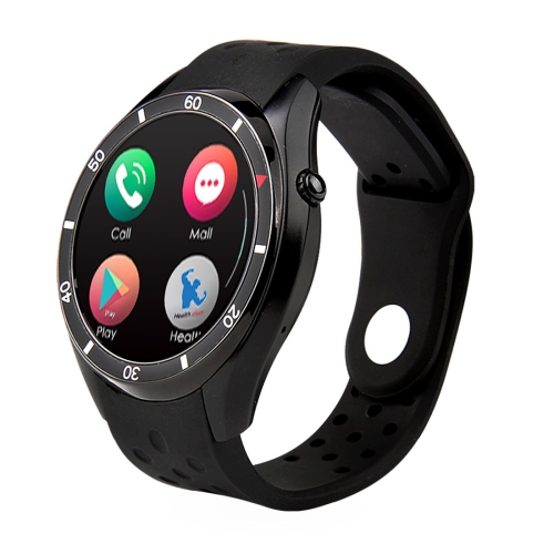 I3 Smart Watch Phone, 512MB+8GB, 1.39 inch AMOLED Android 5.1, MTK6580 Quad Core 1.3GHz, 3G Network / Heart Rate / Pedometer / Bluetooth V4.0 / WiFi / GPS, with Silicone Strap(Black) bluetooth 4 0 smart watch android 4 4 sim no 1 d7 smartwatches 500mah gps wifi 3g wearable clock devices heart rate pedometer