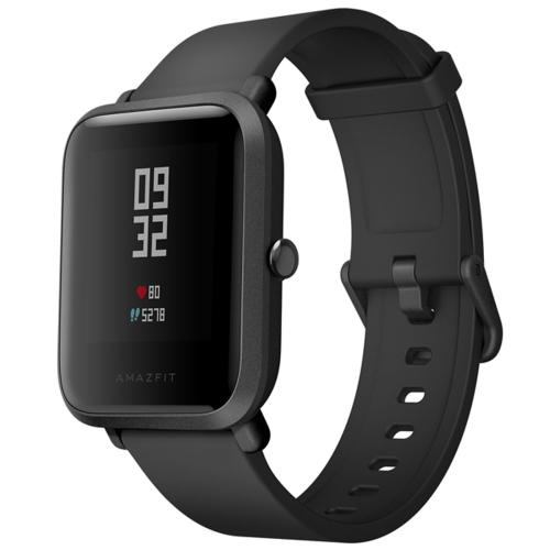 [HK Stock] Original International Edition Xiaomi Amazfit Bip Lite Version Ultra-light 1.28 inch Screen Display IP68 Waterproof Smart Watch Youth Edition, Support GPS + GLONASS Compass & Heart Rate Monitor & Motion(Black)