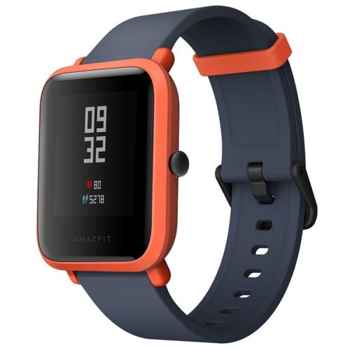 [HK Stock] Original International Edition Xiaomi Amazfit Bip Lite Version Ultra-light 1.28 inch Screen Display IP68 Waterproof Smart Watch Youth Edition, Support GPS + GLONASS Compass & Heart Rate Monitor & Motion(Orange)