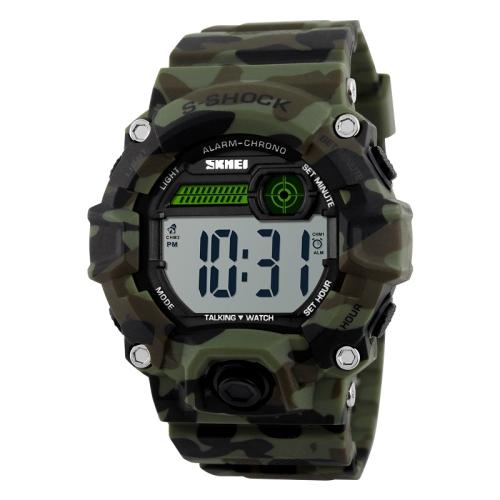 SKMEI 1162 Multifunctional Men Outdoor Sports Noctilucent Waterproof Digital Watch (Camouflage)