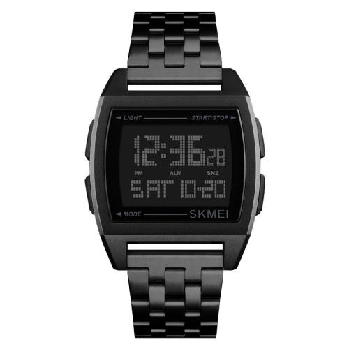 SKMEI 1368 Multifunctional Men Outdoor Sports Noctilucent Waterproof Digital Watch(Black)