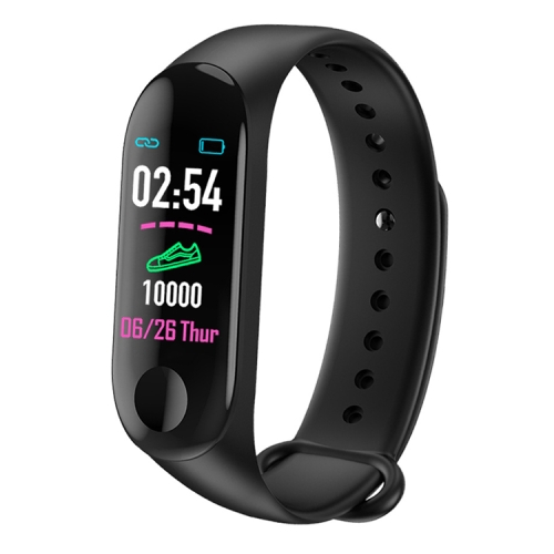 M3 0.96 inches TFT Color Screen Smart Bracelet IP67 Waterproof, Support Call Reminder /Heart Rate Monitoring /Blood Pressure Monitoring /Sleep Monitoring /Weather Forecast (Black) фото