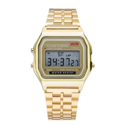 GENEVA Men Fashion Metal Band Electronic Quartz Wrist Watch (Gold) weiqin women watch brand luxury ceramic band rhinestone fashion watches ladies rose gold wrist watch quartz watch reloj mujer